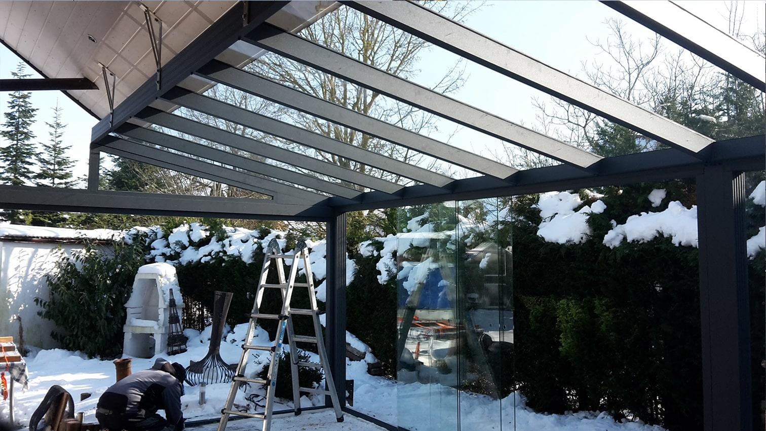 Dachanpassung Wintergarten