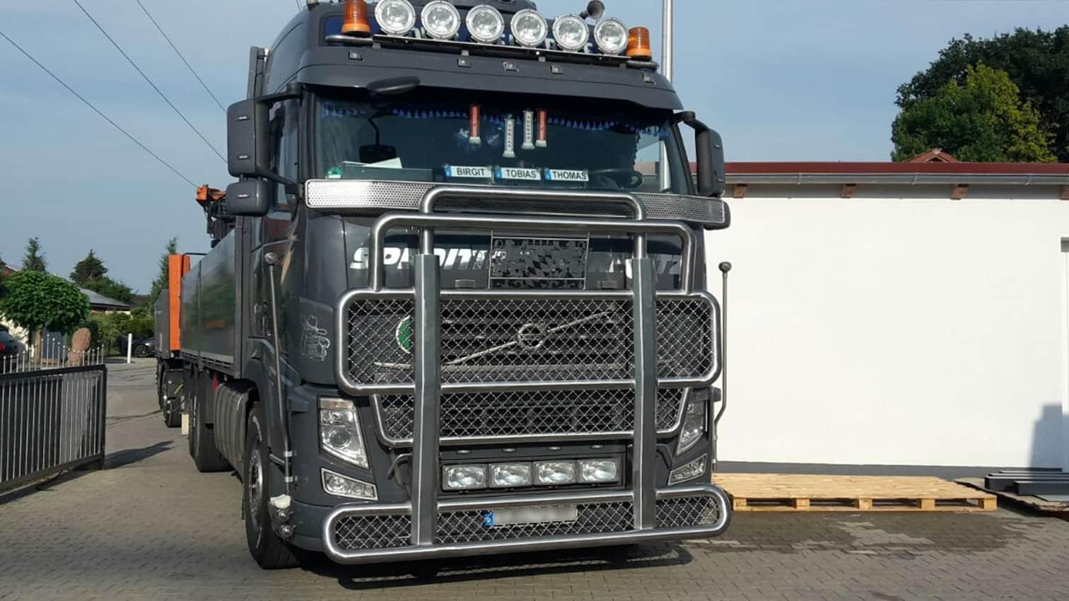 Sonderlösung Kuhfänger LKW