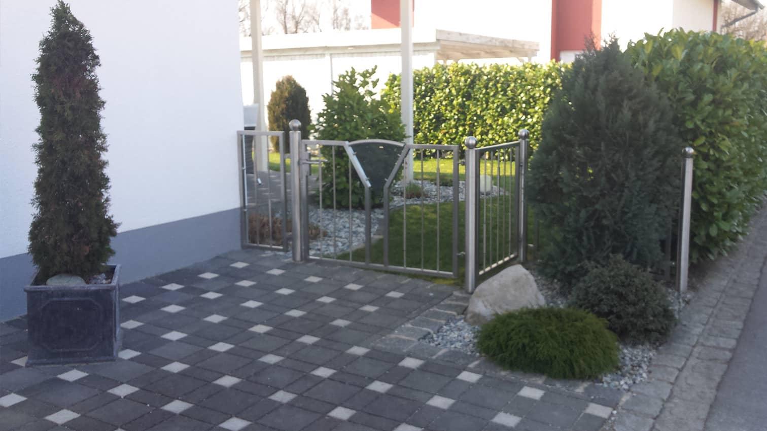 Gartentor aus Edelstahl