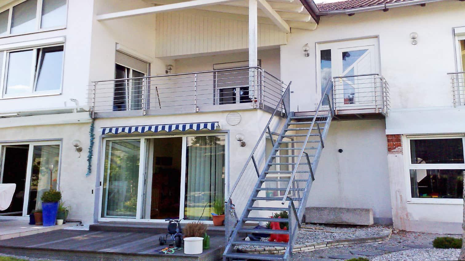 Balkon mit Zugang