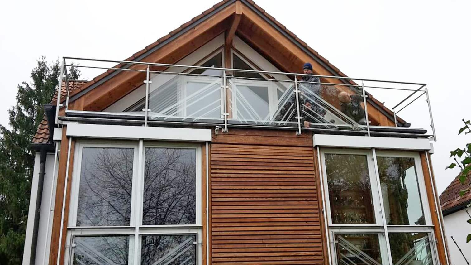 Balkon aus Edelstahl